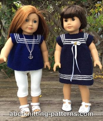 American Girl Doll Sailor Dress or Tunic