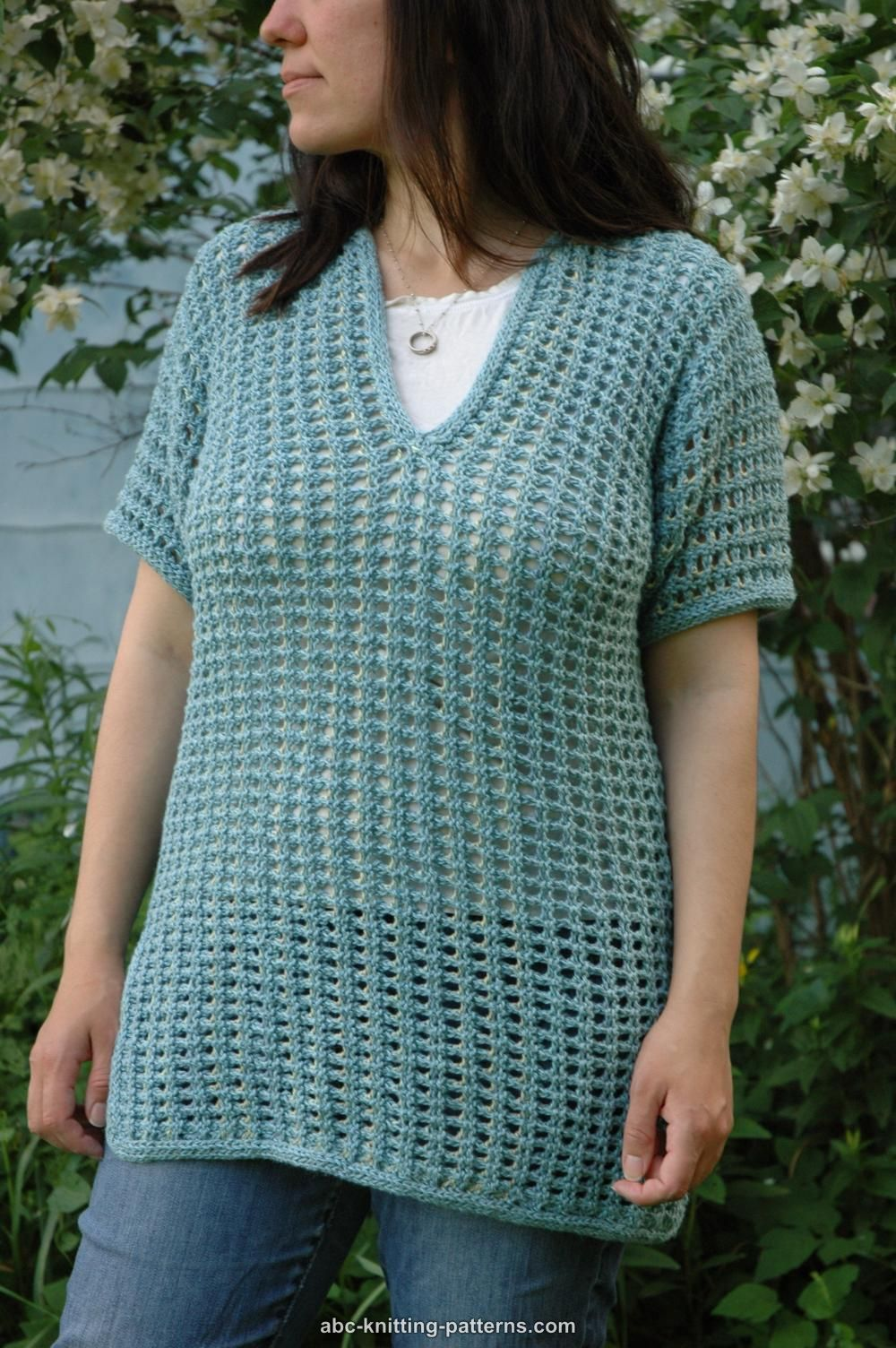 3f0ede53d79a30 ABC Knitting Patterns - Subtle Mesh Summer Sweater
