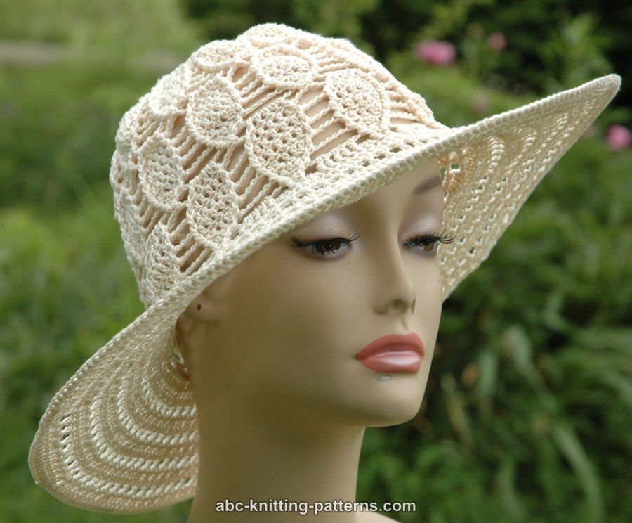 Abc Knitting Patterns Acorn Summer Brim Hat