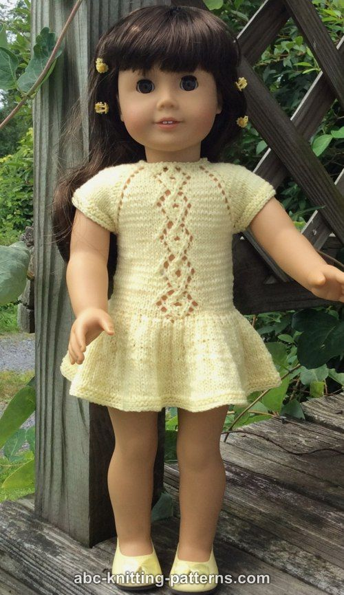 Abc Knitting Patterns American Girl Doll Lace Cable Summer Dress