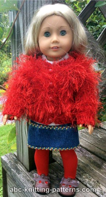 American Girl Doll Fun Fur Vintage Jacket