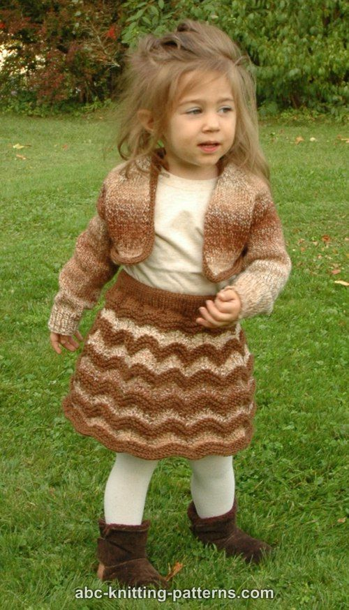 Abc Knitting Patterns Autumn Gale Childs Cropped Cardigan