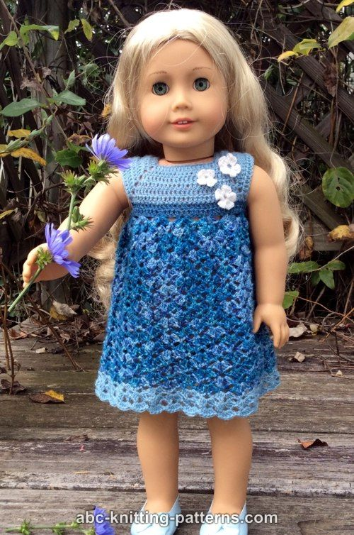 Abc Knitting Patterns American Girl Doll Summer Stream Dress