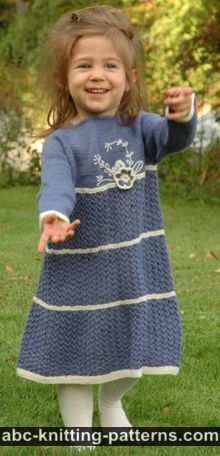 Blue Porcelain Girl's Lace Dress