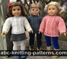 American Girl Doll Aran Sweater