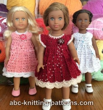 Mini American Girl Doll Post Stitch Dress