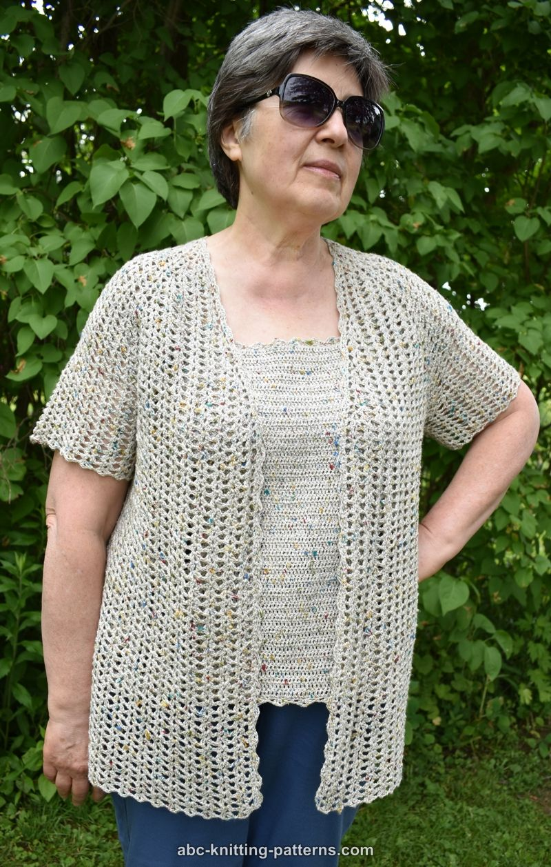 b1cbbac3f0524b ABC Knitting Patterns - La Loire Summer Cardigan