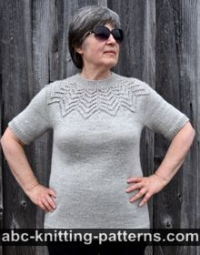 Starburst Lace Yoke Sweater