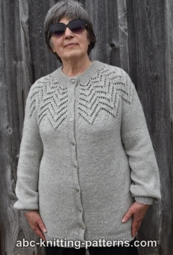 Starburst Lace Yoke Cardigan