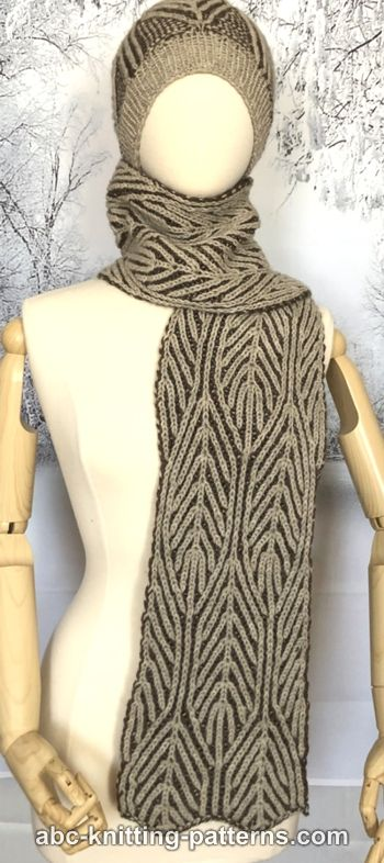 Winter Woods Brioche Scarf