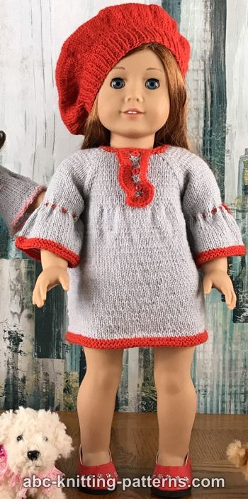 American Girl Doll Vintage Empire Waist Dress