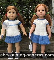 Two Tennis Dresses for 18-inch Dolls