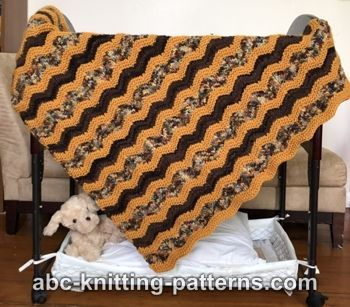 Abc Knitting Patterns Chevron Baby Blanket Or Lap Afghan