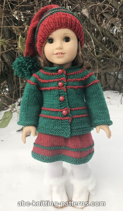 American Girl Doll Jacket for Santa's Helper Outfit