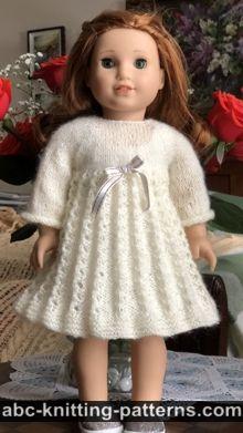 American Girl Doll Pleated Lace Dress Free Knitting Pattern