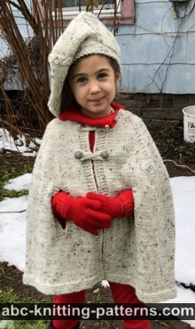 Kid's Vintage Cape Free Knitting Pattern