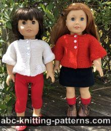 American Girl Doll Peplum Jacket Free Knitting Pattern