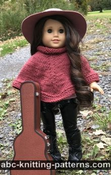 American Girl Doll Wild West Poncho Free Knitting Pattern