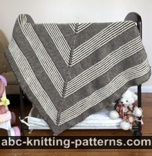 Square Brioche Blanket or Lapghan Free Knitting Pattern