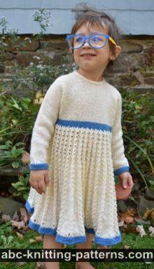 Child's Pleated Lace Dress Free Knitting Pattern