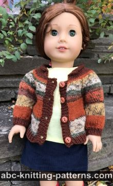 American Girl Doll Faux Fair Isle Cardigan