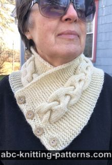 Button Cable Cowl Free Knitting Pattern