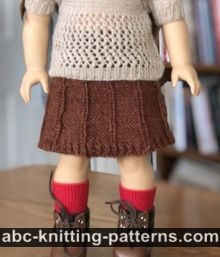 American Girl Doll Faux-Pleat Skirt