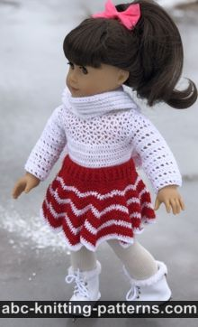American Girl Doll Chevron Skirt