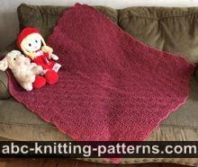 Basketwave Baby Blanket Free Knitting Pattern