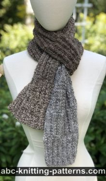 Backwoods Ribbed Scarf Free Knitting Pattern