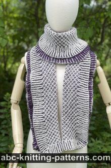 Crystal Lattice Brioche Stole Free Knitting Pattern