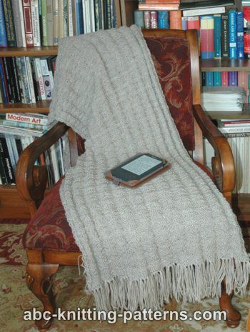 ABC Knitting Patterns - Fluted Prayer Shawl