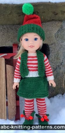 Knitting Pattern 13 Inch Doll : ABC Knitting Patterns - Knit >> Doll Clothes: 90 Free Patterns