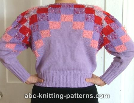 ABC Knitting Patterns - Color Block Sweater
