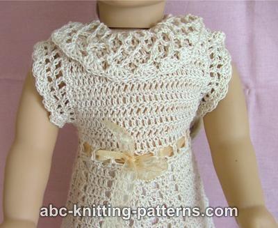 Abc Knitting Patterns American Girl Doll Lace Summer Dress