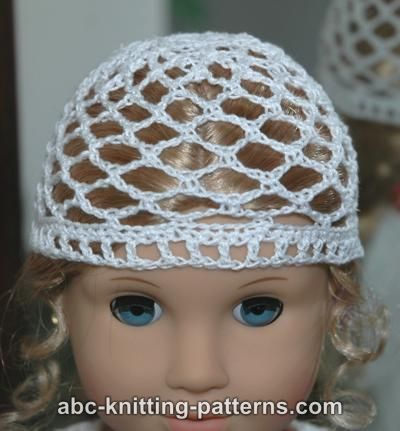Abc Knitting Patterns : ABC Knitting Patterns - American Girl Doll Lace Hat