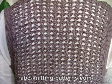 Abc Knitting Patterns Crochet Shell Lace Vest