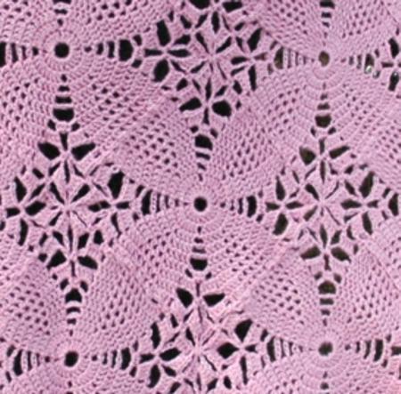 Abc Knitting Patterns : ABC Knitting Patterns - Pink Square Motif Shawl