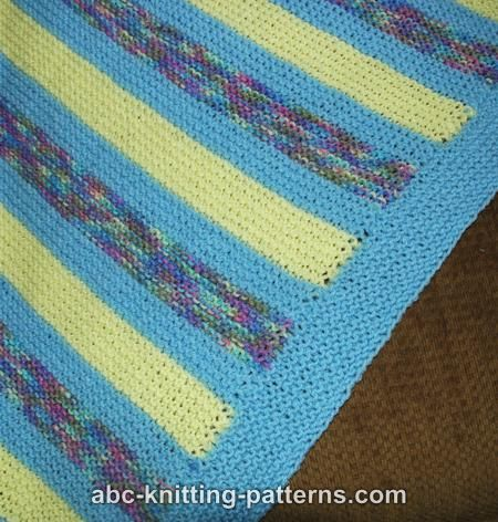 ABC Knitting Patterns - Easy Garter Stitch Baby Blanket