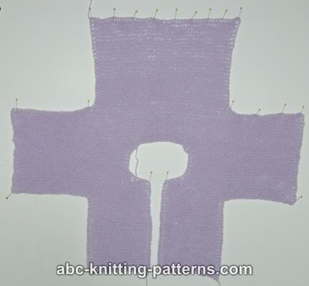 Abc Knitting Patterns Easy Garter Stitch Baby Cardigan