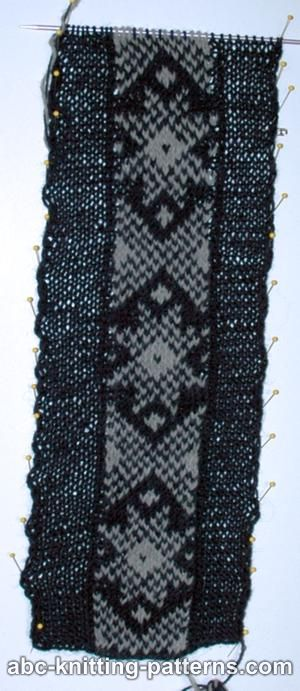 ABC Knitting Patterns - Fair Isle Headband