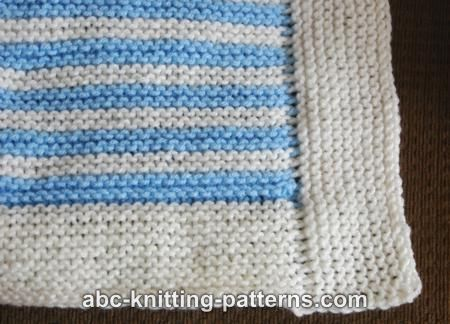Abc Knitting Patterns Easy Garter Stitch 4 Patch Baby Blanket