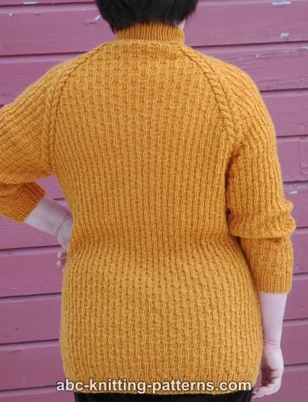 Raglan Knitting Pattern : ABC Knitting Patterns - Raglan Sleeve Sweater with Turtleneck Collar