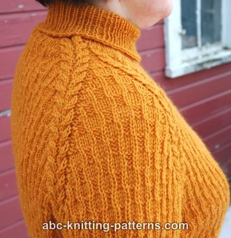 ABC Knitting Patterns - Raglan Sleeve Sweater with