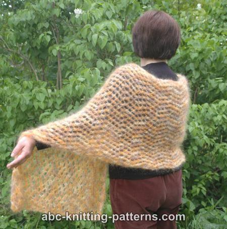 Abc Knitting Patterns Cozy Mohair Wrap