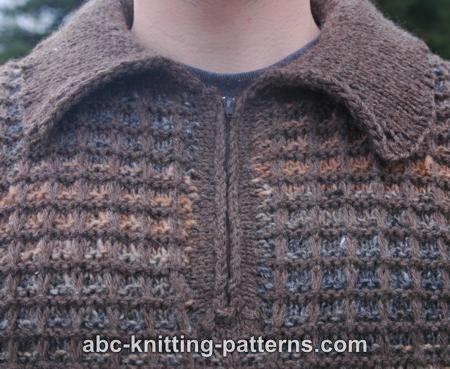 Abc Knitting Patterns Noro Yarn Men Zipper Sweater