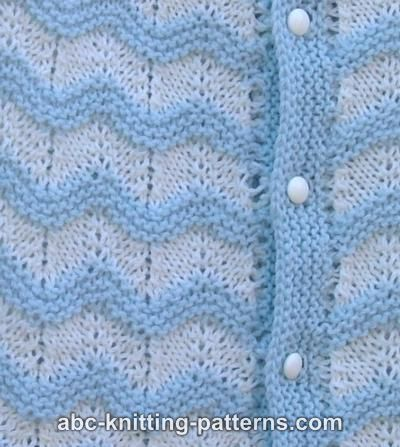ABC Knitting Patterns - Baby Ripple Cardigan