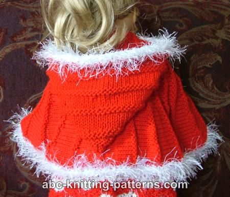 Abc Knitting Patterns American Girl Doll Cape With Hood