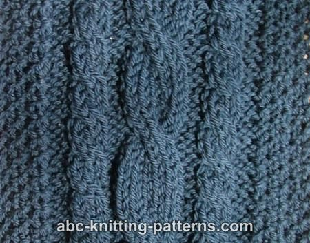 Abc Knitting Patterns Three Cable Scarf