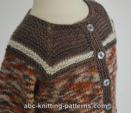Abc Knitting Patterns Baby Seamless Cardigan